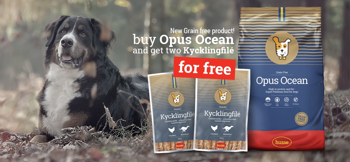 Campaign - Opus Ocean 12kg + 2 x Kycklingfilé 100gr for FREE